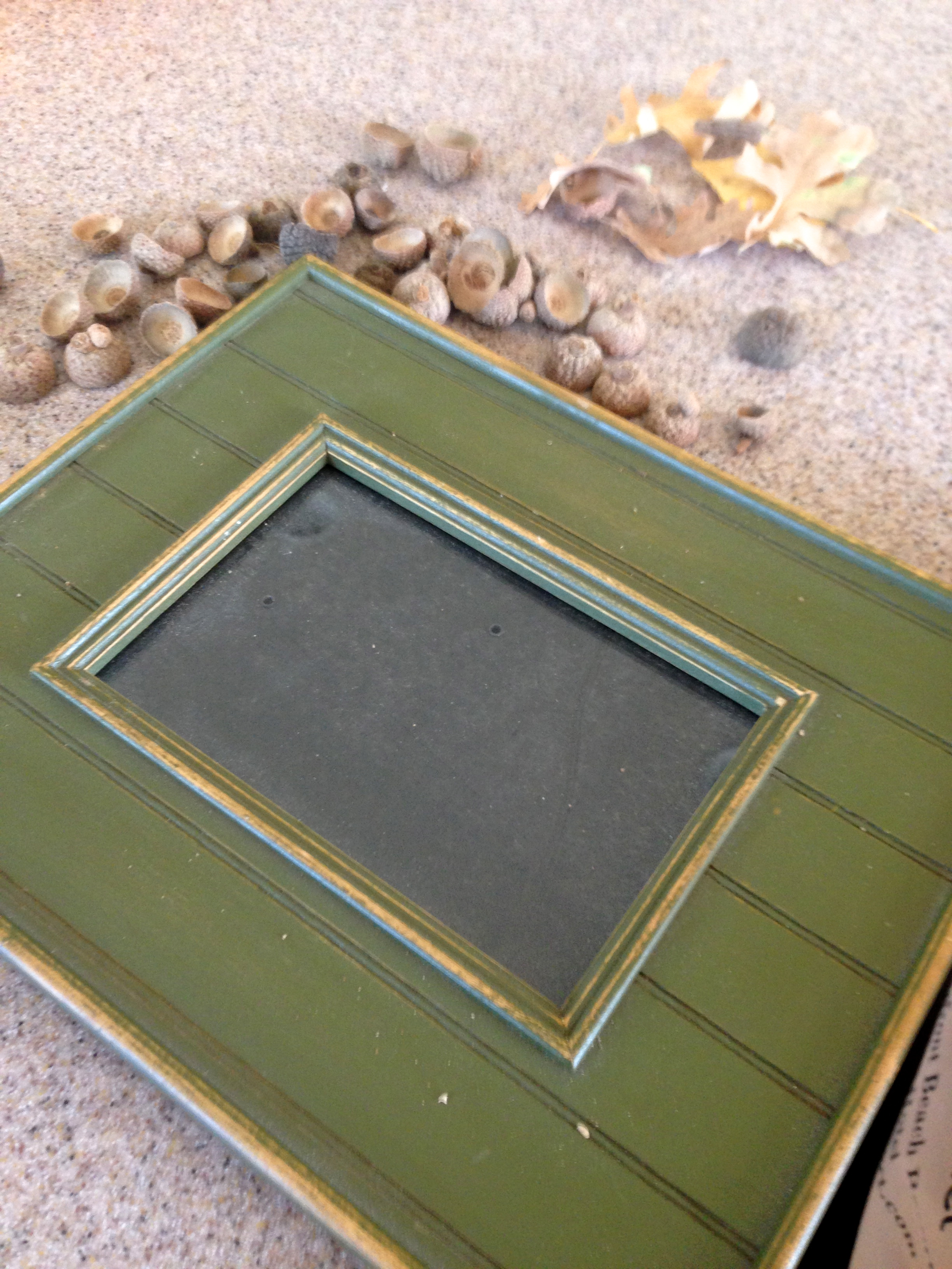 Fall acorn inspired picture frame zest it up i took this plane picture frame jeuxipadfo Gallery