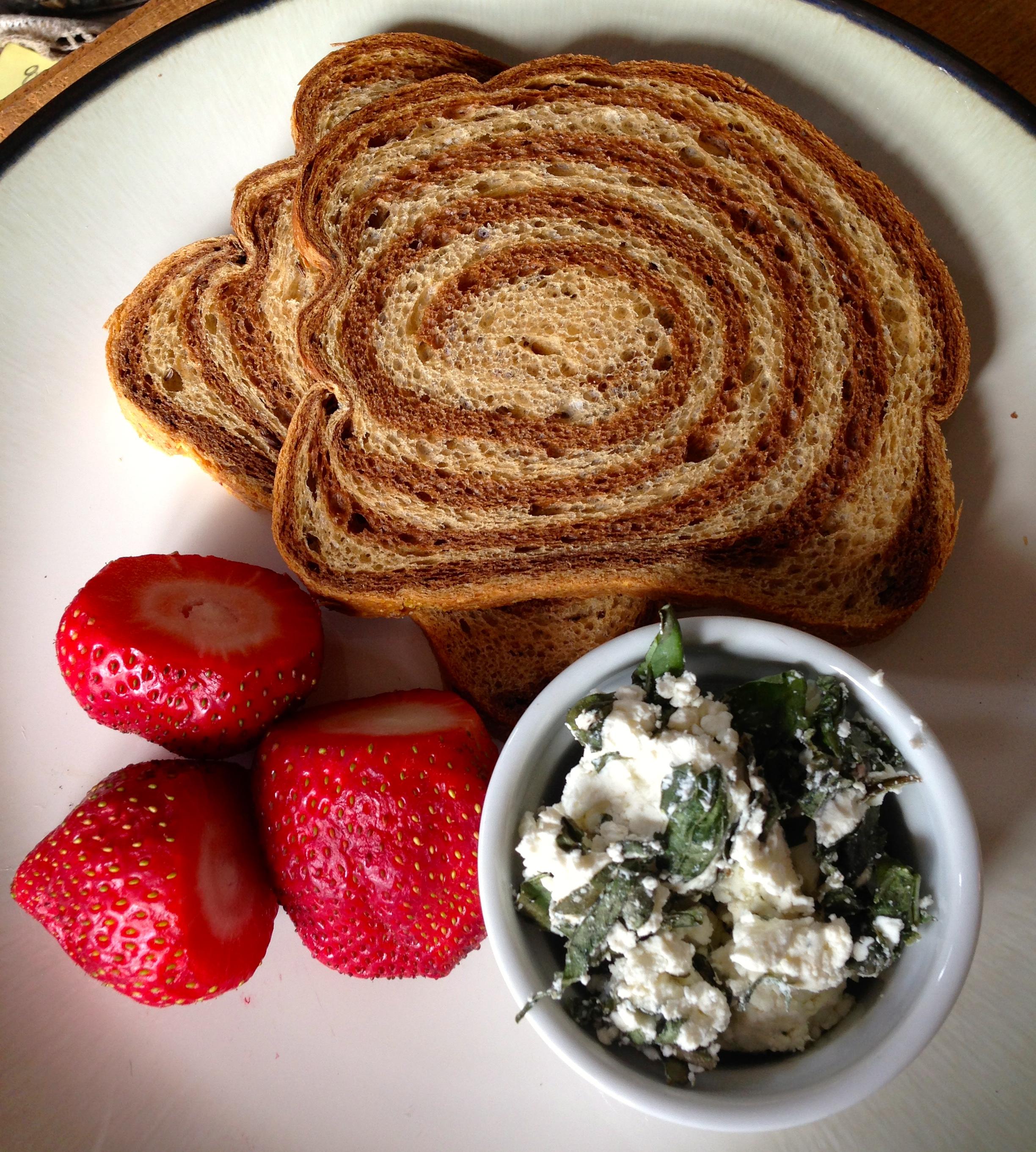 Strawberry Basil Goat Cheese Panini with Balsamic Glaze | Zest it Up